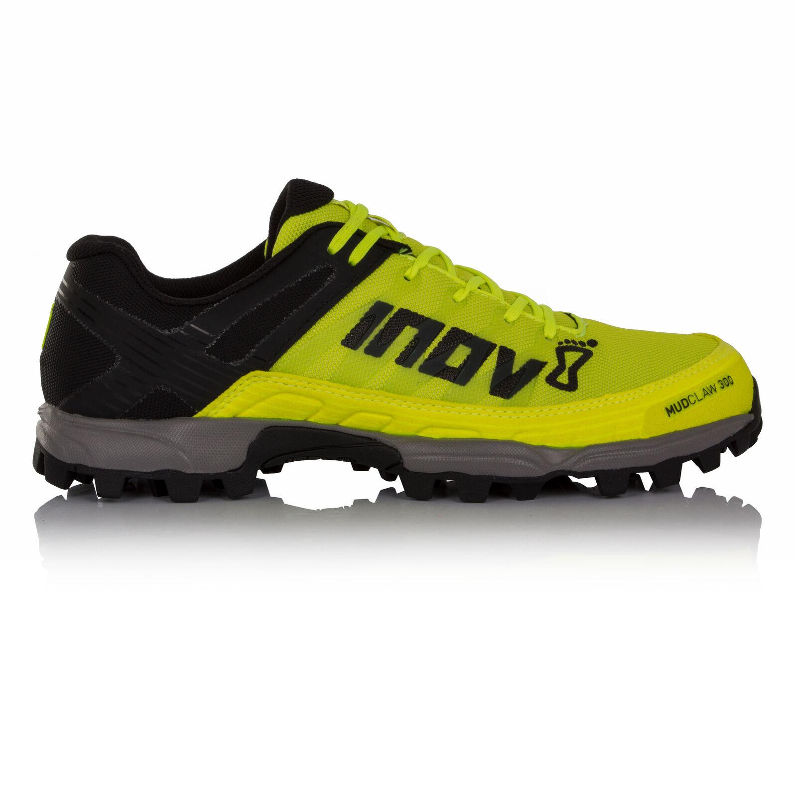 Inov8 Mudclaw 300 Unisex Amarillo Negro Sendero Correr Deporte  Zapato Zapatillas  con 60% de descuento