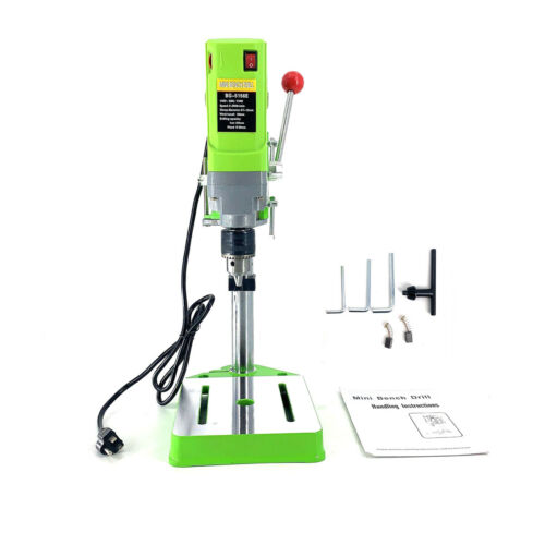 710W Electric Bench Drill Press Stand 110V Mini Metal Drilling Machine for DIY