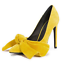 Womens-Pointy-Toe-Big-Bow-Pointed-Toe-Shoes-Suede-Stiletto-High-Heel-Party-Pumps thumbnail 2