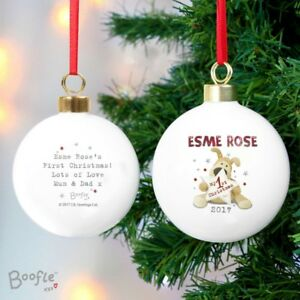Personalised-Boofle-039-My-1st-Christmas-039-Bauble