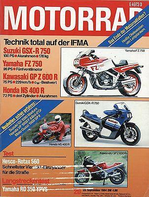 Gut Motorrad 1984 20/84 Moto Guzzi 1000 Sp Ii Yamaha Rd 350 Ypvs Hesco Rotax 500 Hell In Farbe