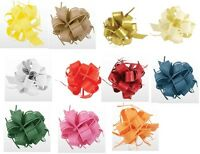 PACK OF 35 LARGE RAFFIA PULL BOWS DIFFERENT COLOURS DECORATIVE GIFT RIBBONS