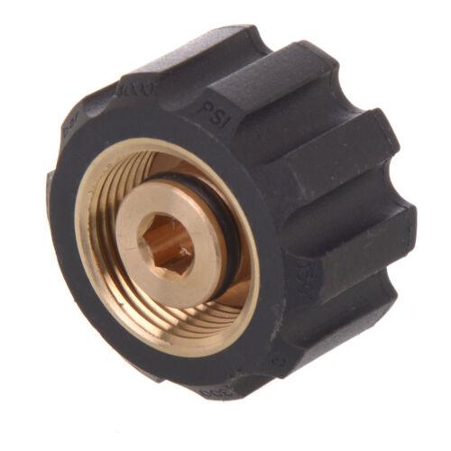 "Brass 1//4/""Female x M22 Female Adaptor for Pressure Washer KARCHER Lance Nozzle"