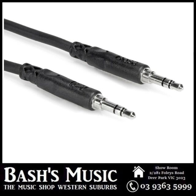 Hosa Stereo AUX Cable 3.5 mm TRS to Same Oxygen-Free Copper High Quailty - 10 ft