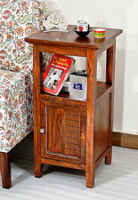 TimberTaste KOSA Solid Sheesham Wood Natural Teak Corner Side Accent End Table