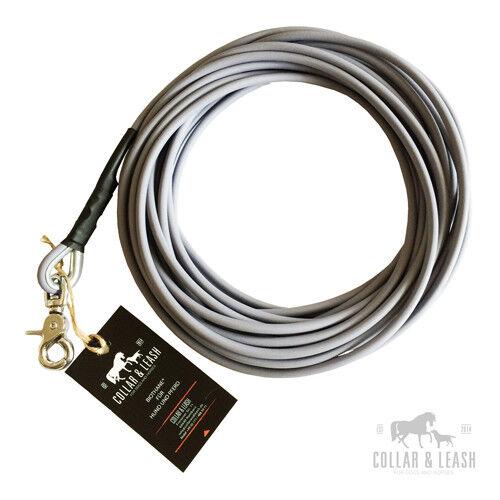 BIOTHANE Hundeleine Leine  Fährtenleine Schleppleine 12m rund rund rund 6mm grau  | Räumungsverkauf  0356a6