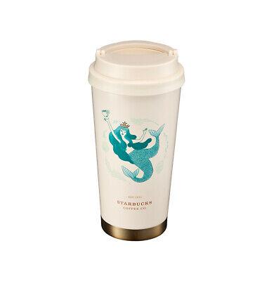 Starbucks Tumbler Anniversary Blue siren Mermaid 13oz Elma Stainless steel cup