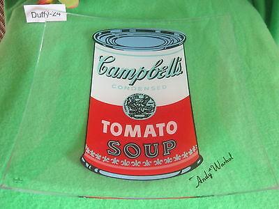 Warhol von Rosenthal Tisch Schale 25 x 25 cm Glas Campbell s Soup  A
