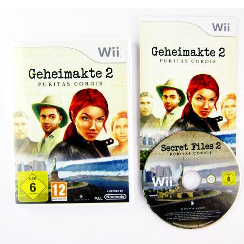 Nintendo Wii Spiel GEHEIMAKTE 2 PURITAS CORDIS in OVP mit Anleitung