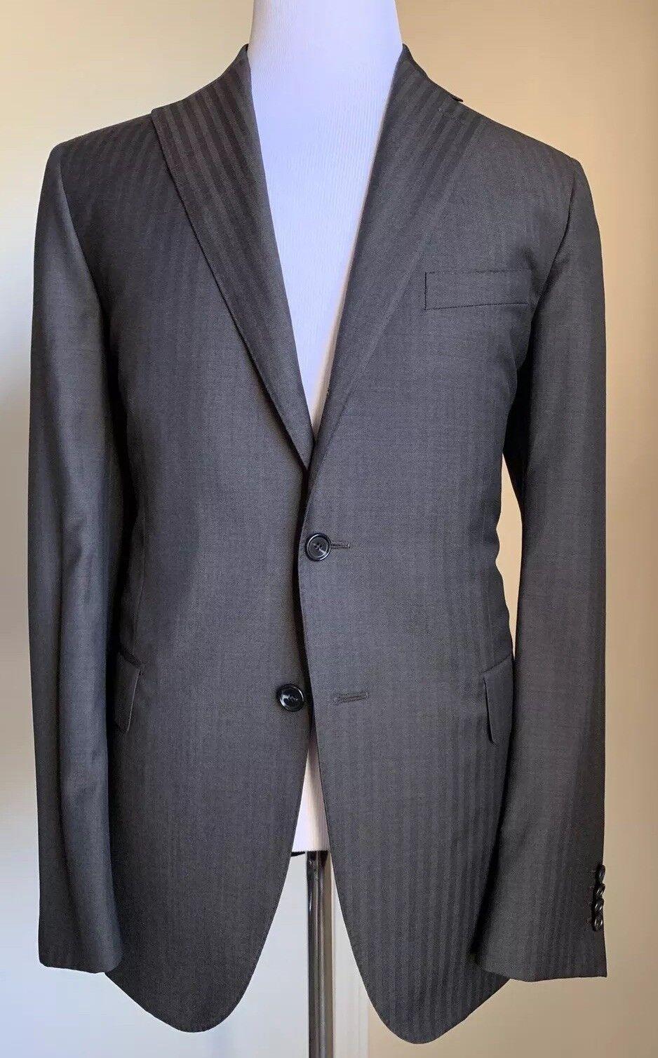 New 1500 Caruso  Herren Neaplitan Suit Super 110S DK Braun 44R US ( 54R Eur)