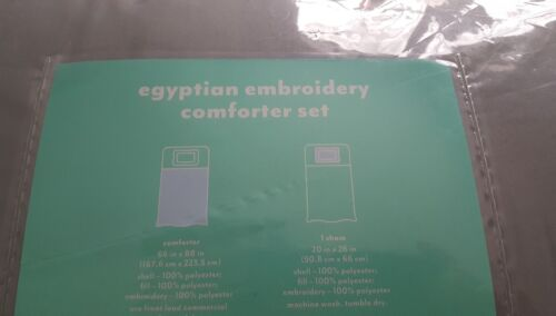 BEAUTIFUL TWIN EGYPTIAN EMBROIDERY COMFORTER SET