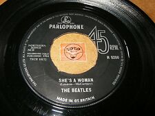 THE BEATLES - SHE'S A WOMAN - I FEEL FINE   / LISTEN - POP BEAT
