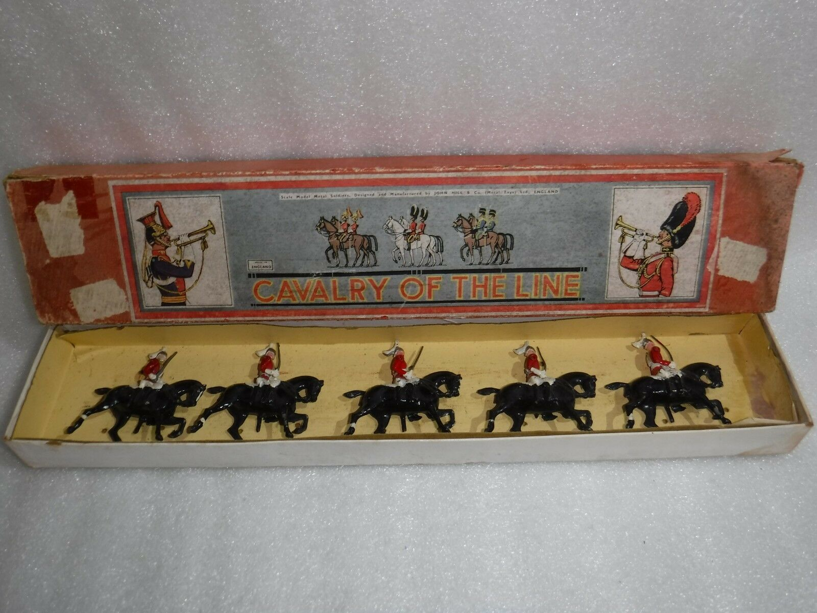 John Hill & Co Scale Model Die Cast  Mounted Soldiers Cavalry Of The Line .Rare