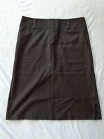 United Colors Of Benetton Women Skirt Black With Grey Striped Size 44 Sxs