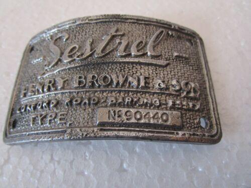 Plaque SESTREL Marine WOODEN BINNACLE Builder/'s Plate 5128 NAUTICAL