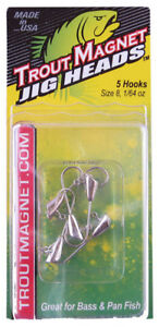 NEW-Leland-Lures-87657-Trout-Magnet-Jig-Heads-1-64-Ounce-Silver