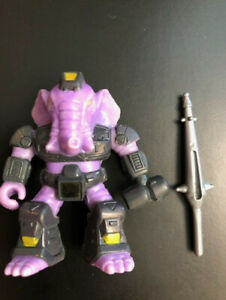 Battle-Beasts-Sledgehammer-Elephant-8-100-Complete-Rub-amp-Weapon-TAKARA-Hasbro
