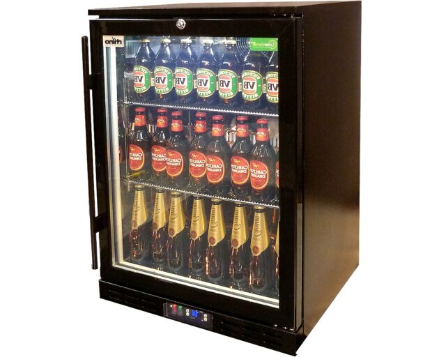 Rhino Glass Door Bar Fridge 129 Litres Commercial Right Hand Hinge