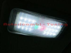 Luce plafoniera interna abitacolo led smd bianca fiat 500 for Led luce bianca