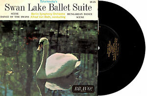 BERLIN-SYMPHONY-ORCH-SWAN-LAKE-BALLET-EP-7-034-45-VINLY-RECORD-1960s
