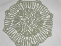 Handmade Crochet Heart Design Actual Crocheted Doily Green Hearts Valentines