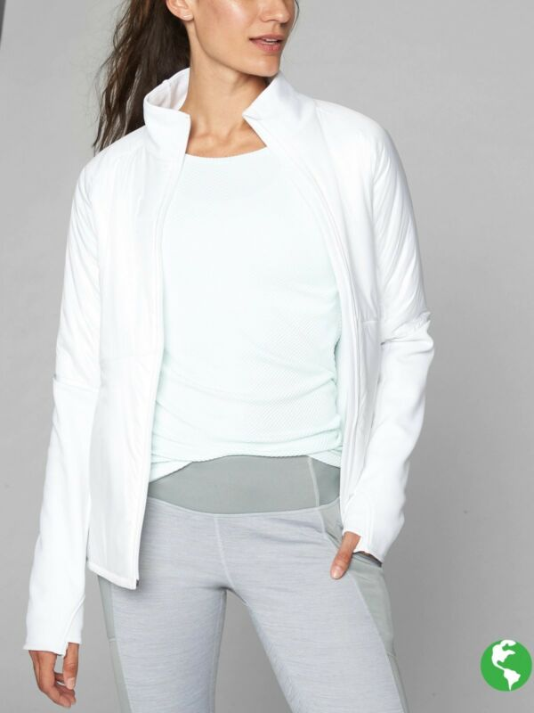 Generous Nwt Athleta Rock Creek Jacket, White Size Xs #158342 E214 Clearance Price