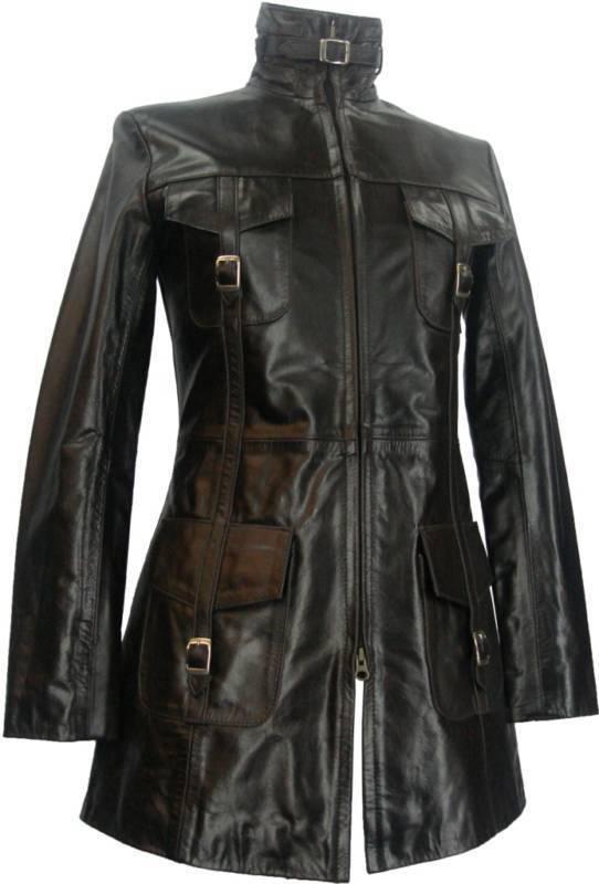 UNICORN LONDON Unicorn Ladies Glazed Brown Leather Coat  L7