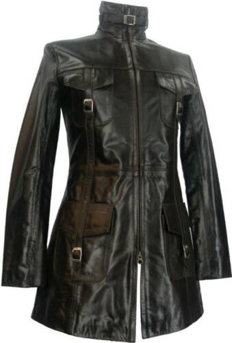 Glazed Leather Ladies Brown Uk London l7 8 Coat Unicorn qpa7EOx