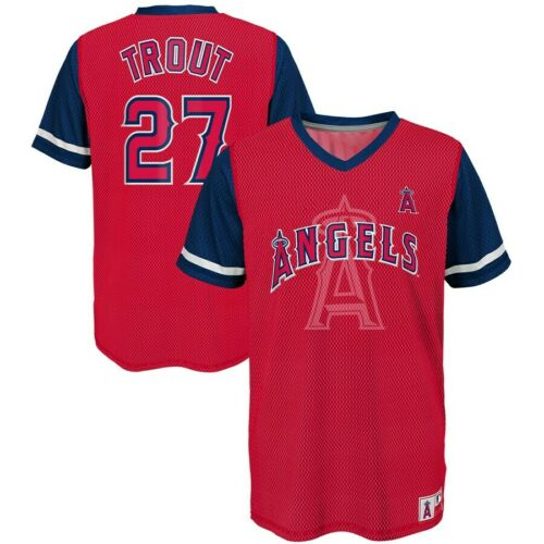 Mike Trout Los Angeles Angels Majestic MLB Jersey YOUTH SIZES CLEARANCE