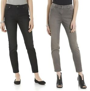 bd930369f53cf Route 66 Women's Skinny Jeans waist sizes 27 29 black gray - NEW NWT ...