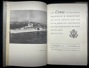 President Franklin Roosevelt 1936 SIGNED UNOBTAINABLE Rare Peace Conference Book
