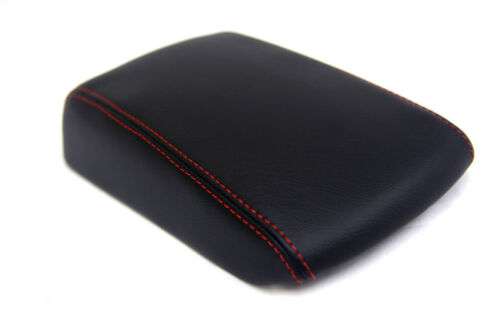 Fits 03-08 Mazda 3 Synthetic Leather Armrest Center Console Cover Red Stitch