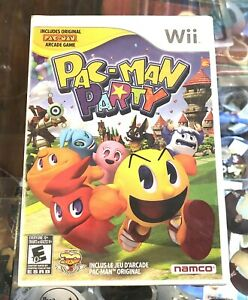 NINTENDO Wii PAC-MAN PARTY GAME NEW MINT SEALED NIB MISB - FREE SHIPPING -