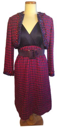 Vintage Malcom Starr Red Rhinestone Embellished Tw