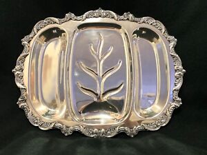 Vintage-Silver-Plated-Meat-Tray-Platter