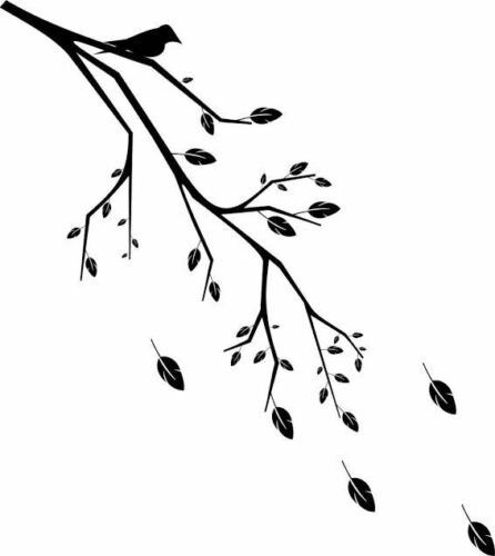 T17 BIRD ON BRANCH Reusable Stencil A3 A4 A5 Romantic Shabby Chic Craft