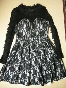 Chi Chi London Ballkleid Abendkleid Gr Uk8 Entschpricht 36 Schwarz Spitze Tull Ebay