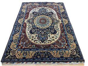 Oriental-Afghan-Persian-Rug-Hand-Knotted-Wool-Carpet-Room-Decor-Floor-212x150-cm