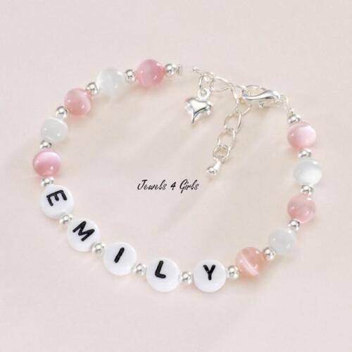 viele Farben Größe Mädchen personalisiert Name Armband mit Herz amulett