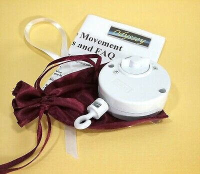 """Crib Mobile Movement - Your Choice of Color White Plays /""""The Harry Potter Theme"""