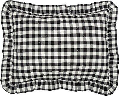 Ruffled Black Amp White Quilted Standard Pillow Sham Annie