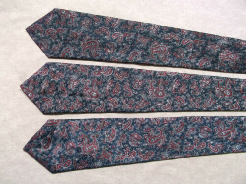 Mens Neck Tie Everyday Fashion Office Party Wedding Necktie NAVY RED PAISLEY