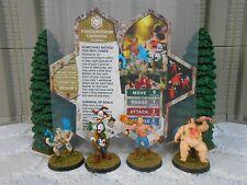 Heroscape Custom Pandemonium Carnival Dbl Sided Card & Figure w/ Sleeve Valkrill