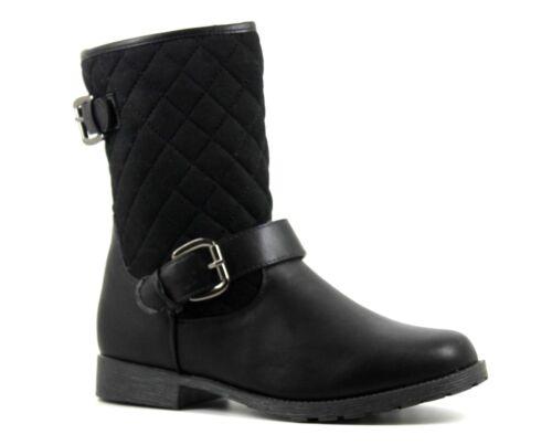 Ser tú para Mujer Reino Unido 4 7 Acolchado Negro Acogedor Cálida De Piel Forrada Cremallera Botas al tobillo