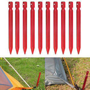 10Pcs-18cm-Aluminum-Alloy-Outdoor-Camping-Trip-Tent-Peg-Ground-Nail-Stakes-M5R0