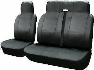 LEATHER LOOK BLACK VAN SEAT COVERS SINGLE /& DOUBLE 2+1 07 ON PEUGEOT EXPERT