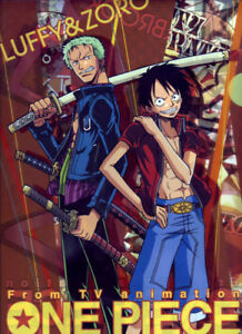 One-PIece-Anime-Manga-Clear-File-Folder-Official-Japan-Movic-NEW-Zoro-Luffy