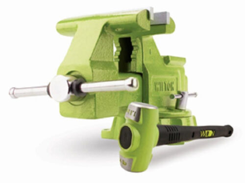 """Wilton BASH Green 6.5/"""" Utility Bench Vise and Sledge Hammer Combo"""