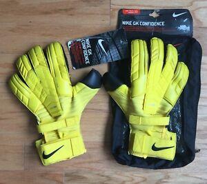 b1d44b0e1 Nike GK Confidence Goalkeeper Gloves | Black and Yellow | Size 11 | eBay