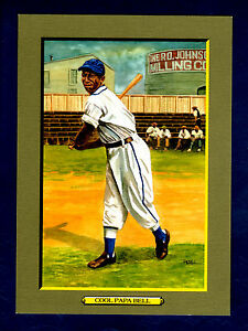 """#51 JAMES """"COOL PAPA"""" BELL, Negro League ~ Perez-Steele T3/Turkey Red style card"""